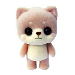 Little Cute PVC Flocking Animal Dog Shiba Inu Dolls Creative Gift Kids Toy, Size: 4.5*3.5*6cm