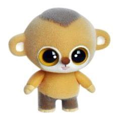 Little Cute PVC Flocking Animal Monkey Dolls Creative Gift Kids Toy, Size: 6.3*4.5*7cm (Yellow)