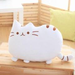3 PCS Soft Plush Stuffed Animal Doll Anime Toy Cute Cushion (White)