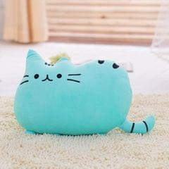 3 PCS Soft Plush Stuffed Animal Doll Anime Toy Cute Cushion (Blue)