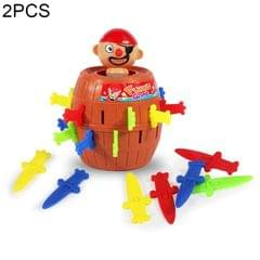 2 PCS Tricky Toys The Pirates Uncle Insert Sword Barrel Table Game