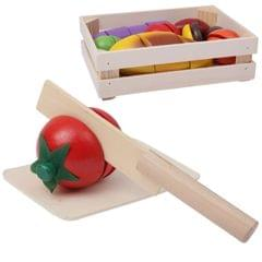 Children Wooden Kitchen Toy Fruit and Vegetable Cutting Game Educational Toy