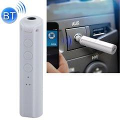 Portable Stereo Bluetooth Adapter Mini Portable Bluetooth 4.2 Wireless Bluetooth Music Receiver with 3.5mm Hands-free Stereo Audio Adapter for Car Home Use (White)