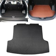 Car Trunk Mat Rear Box Carbon Fiber Mat for Nissan Teana 2019 (Black)