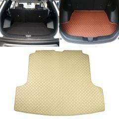Car Trunk Mat Rear Box Carbon Fiber Mat for Nissan Teana 2019 (Beige)