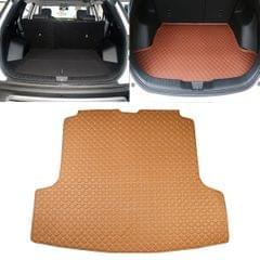 Car Trunk Mat Rear Box Carbon Fiber Mat for Nissan Teana 2019 (Light Brown)