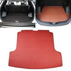 Car Trunk Mat Rear Box Carbon Fiber Mat for Nissan Teana 2019 (Red)