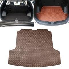 Car Trunk Mat Rear Box Carbon Fiber Mat for Nissan Teana 2019 (Dark Brown)