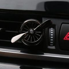 Automobile Air Conditioning Outlet Mini Fan Aircraft Rotary Aromatherapy Perfume Clip Car Air Conditioning Outlet Perfume Folder Car Perfume Aromatherapy with Essential Oil (Black)