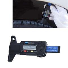 0-25mm Electronic Digital Tread Plan Refinding Rounds Refinding Outcome Exists Tread Tablets Type Gauge Depth Vernier Caliper Measuring Tools (Black)