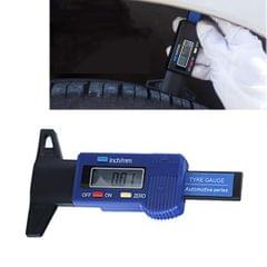 0-25mm Electronic Digital Tread Plan Refinding Rounds Refinding Outcome Exists Tread Tablets Type Gauge Depth Vernier Caliper Measuring Tools (Blue)