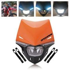 Speedpark Cross-country Motorcycle LED Headlight Headlamp Assembly for (Orange)