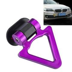 Car Truck Bumper Triangle Tow Hook Adhesive Decal Sticker Exterior Decoration (Purple)