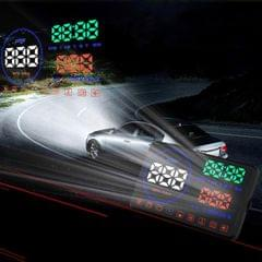 Geyiren M9 HUD 5.5 inch Car Head Up Display with OBDII & EUOBD System,  Speed & Over Speed Alarm, RPM, Water Temperature & High Water Temperature Alarm, Voltage & Low Voltage Alarm, Instantaneous Fuel Consumption, Average Fuel Consumption, Driving Distance Measurement,  Shift Reminders, Fatigue Driving Reminders,  Engine Failure Alarm, Eliminate Fault Code, Freely Switch Between Kilometers and Miles (Black)