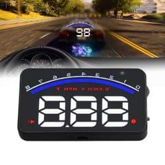 Geyiren M6 HUD 3.0 inch Car Head Up Display with OBDII & EUOBD System,  Speed & Over Speed Alarm, RPM, Water Temperature & High Water Temperature Alarm, Voltage & Low Voltage Alarm, Freely Switch Between kilometers and Miles (Black)