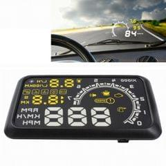 W02 5.5 inch Car OBDII HUD Fuel Consumption Warning System Vehicle-mounted Head Up Display Projector with LED