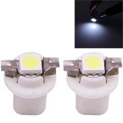 2 PCS B8.5 Blue Light 0.2W 12LM 1 LED SMD 5050 LED Instrument Light Bulb Dashboard Light for Vehicles, DC 12V (White)