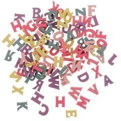 100pcs Alphabet Wood Letter Wooden Sticker Craft 3D Scrapbooking Decor DIY