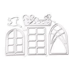 Flower Bed Cat Window Shape Metal Cutting Dies Die-Cut Stamps/Stencil/Template for DIY Scrapbook Decor