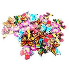 50 Pieces Vintage Wood Buttons 2-hole Butterfly Buttons for DIY Sewing Scrapbooking