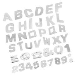 200 Pieces Chrome Car Emblem Sticker Alphabet Letter Number Symbol Decal