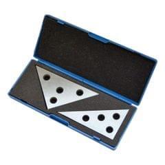 30-60 - 90 Angle and 45-45 - 90 ANGLE PLATE SET PLATES STEEL 2pcs set