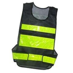 High Visibility Safety Vest, High Visibility Safety Vest With Reflective Strips -Black