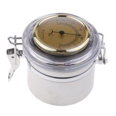 Pipe Tobacco Tin Can with Hygrometer & Humidifier