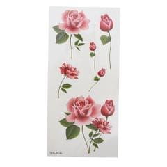 Pack of 10 Sheets Party Waterproof Flower Temporary Tattoo Stickers  TBX-036