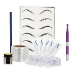 Eyebrow Tattoo Kit Set Microblading Needle Pen Pigment Practice Skin Blue