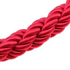 Twisted Barrier Rope Queue Nylon for Posts Stands Exhibition Crowd 6.6ft Red