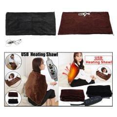 USB Powered Electric Heating Pad Neck Shoulder Lap Warming Wrap Black