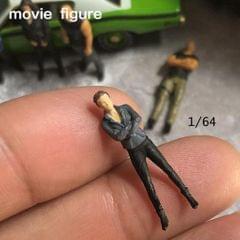 1/64 Characters Tiny Resin People Railway Road Diorama for Siku Grey