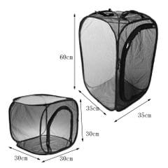 Foldable Insect and Butterfly Habitat Net Terrarium Breeding Cage Black S