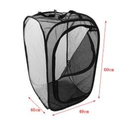 Foldable Insect and Butterfly Habitat House Terrarium Breeding Cage Black M