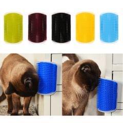 Pet Cat Wall Corner Grooming Massage Self Groomer Brush Tool Black