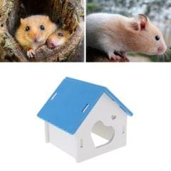 Hamster House Small Animal Hideout Pet Mini Hut Hamster Cabin Cages blue