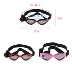 Folding Eye Wear Waterproof UV Protection Pet Dog Cat Glasses  Black