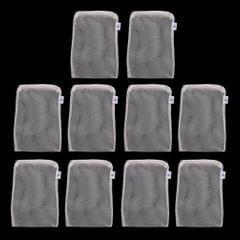 10 Pcs Zipped Fish Tank Filter Material Mesh Bag Isolation Bag 15x20cm White