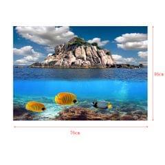 3D Aquarium Background Poster Backdrop Sticker Fish Tank Decorations M