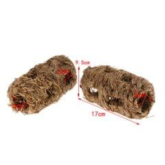 2pcs Natural Grass Rack Feeder Hay Grass Nest Holder for Rabbit Guinea Pig