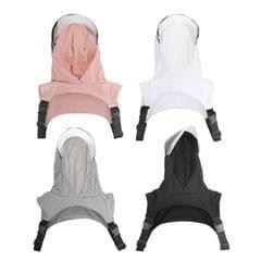 Sport Full Face Visor Clear Hooded Face Mask Hat UV Protection for Men Wmen black