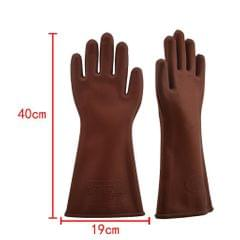 Insulated 12kv High Voltage Electrical Insulating Gloves For Electricians