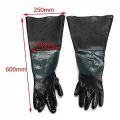 1 Pair of Heavy Duty Gloves+ 2 Glove Holders & Clamps for Sand Blast Cabinet