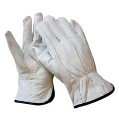 1 Pair Breathable Leather Labour Gloves Protective Gloves M