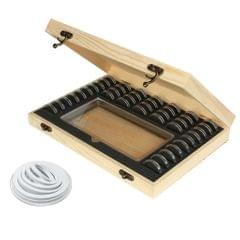 Wood Coins Display Storage Box Collectible Case For Certified Coin
