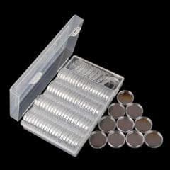 Clear Coins Display Storage Box Collectible Case For Certified Coin -20.5mm