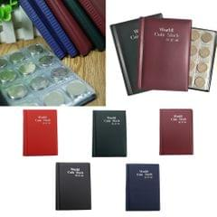 120 Grids Coins Souvenir Coins Currency Collector PU Album Book  Black