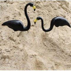 Plastic Flamingo Lawn Figurine Garden Grassland Decor Ornament Black #2