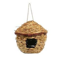 Handwoven Straw Bird Nest House Hatching Breeding Grass Cave E Grass House S